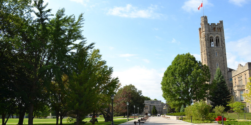 The sunny campus of Western University, which just might be the right university for you.