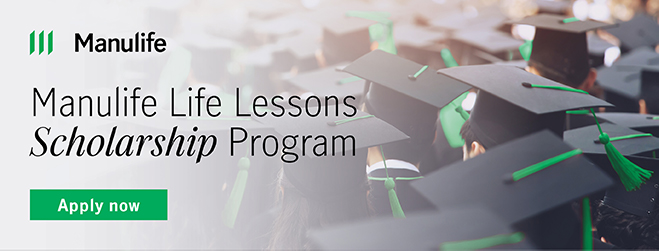 Manulife Life Lessons Scholarship Program for Post-secondary Students