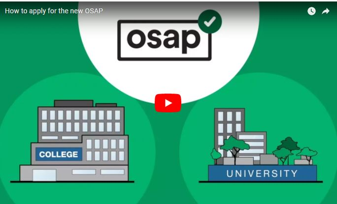 How to apply for the new OSAP!