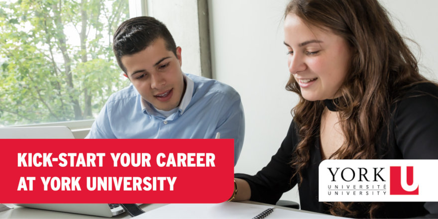 Students work together to start fantastic careers at York University.