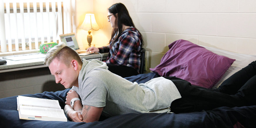 Cambrian College students make the most of their holiday by spending time together while catching up on some reading.
