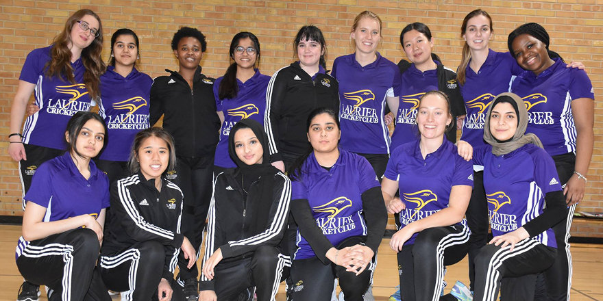 The women's cricket team at Wilfrid Laurier University, the first in Canada to use the traditional hard ball.