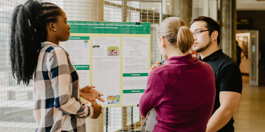 Undergraduate students at University of Alberta's Augustana Campus share and discuss the research they've taken on even in their undergrad years.