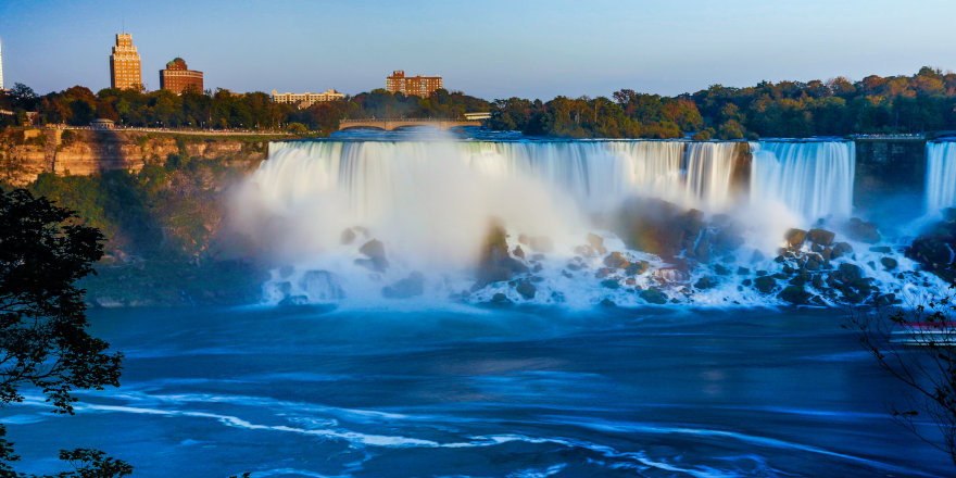 A breathtaking view of Niagara Falls in Ontario.