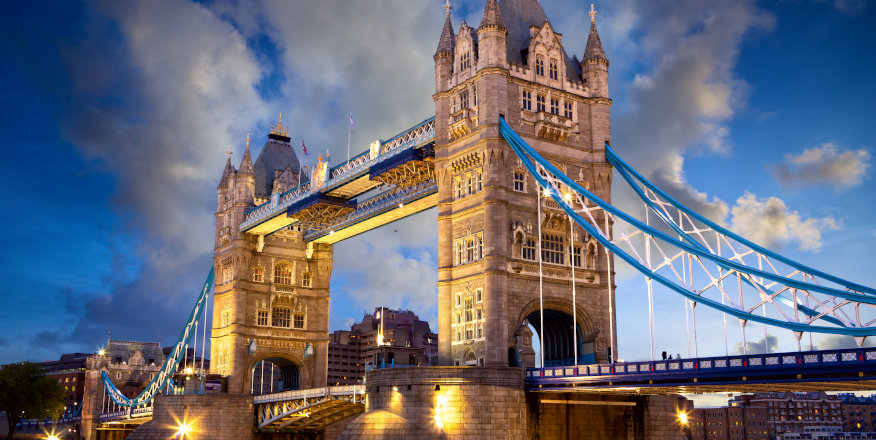Tower Bridge in London, England, home of many of the Russell Group universities.