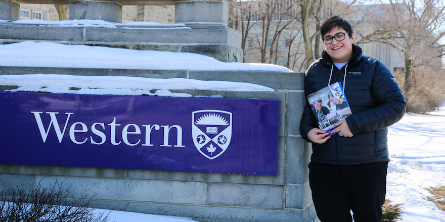 A student finds their home at Western University, having made their own choices, visited campus, explored program choices, and researching admission requirements. No mistakes!