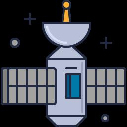 An orbital satellite, designed by an aerospace engineer.
