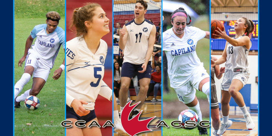 Capilano Honours 26 CCAA National Scholar Student-Athletes