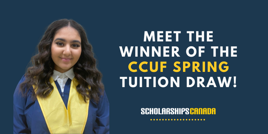 Meet the Winner of the March 2021 CCUF Tuition Draw!